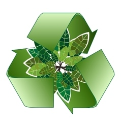 Save forest ecology green recycle sign vector image
