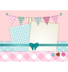 scrapbooking layout vector image vector image