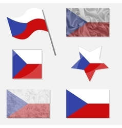 Set with Flags of Czech Republic vector image