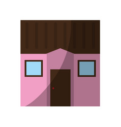 Square one story house icon image vector