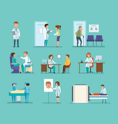 Therapist radiologist surgeon dentist oculist vector