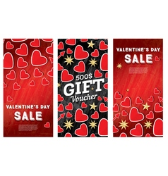 Valentines day sale banner set vector