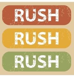 Vintage rush stamp set vector