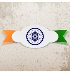 India paper tag on ribbon vector