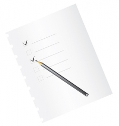 Checklist with pencil vector