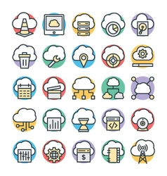 Cloud computing cool icons 2 vector