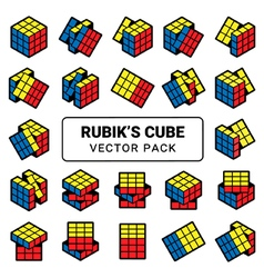 rubiks cube vector image