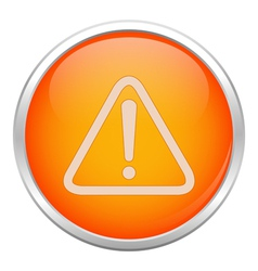 Orange warning icon vector