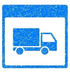 Shipment truck calendar page grainy texture icon vector