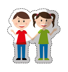 Cute parents couple icon vector