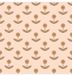 Small decorative flowers vector image