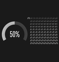 Set of circular sector percentage diagrams vector