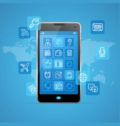 Web app ui ux concept mobail phone vector