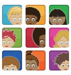 Kids icons vector