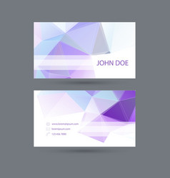 Modern business card template with polygonal mesh vector
