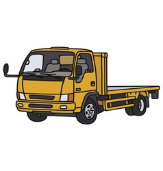 Small orange lorry vector