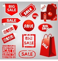 sale labels vector image