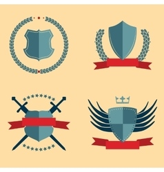 Shields - heraldic design elements vector