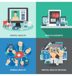 Digital Health Set vector image