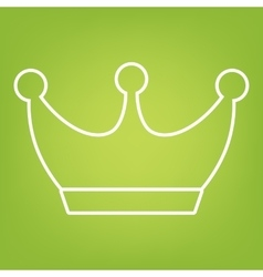 King crown line icon vector