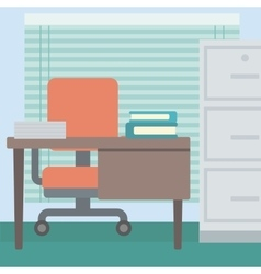 Background of office workplace vector