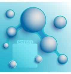 Aqua speech bubbles vector image