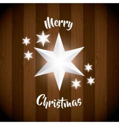 White star icon merry christmas design vector