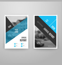 Abstract blue brochure template with icons vector