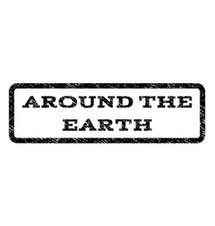 Around the earth watermark stamp vector