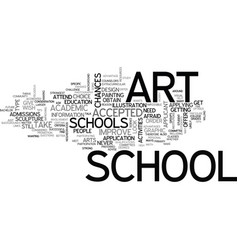 Art schools text word cloud concept vector