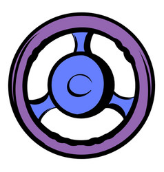 Automobile wheel icon cartoon vector