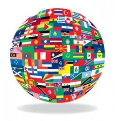 ball flag vector image