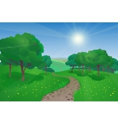 Beautiful landscape with trees vector