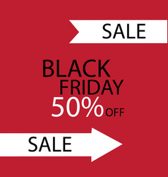 black friday black fog and black friday on red vector image