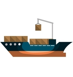 Cargo ship delivery service vector