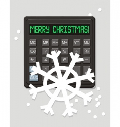 christmas calculator vector image vector image