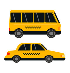 City road yellow taxi transport vector