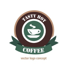 coffee logo concept vector image
