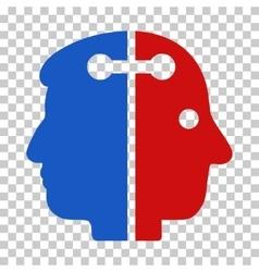 Dual head connection icon vector