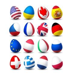 Egg flags vector