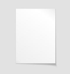 Empty sheet of paper template vector