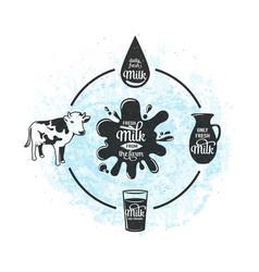 fresh milk from the farm vector image
