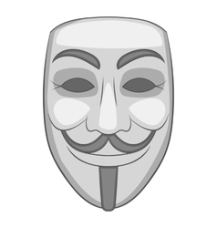 Hacker or anonymous mask icon cartoon style vector image