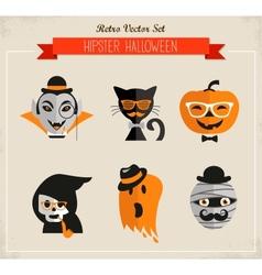 Happy hipster halloween vector