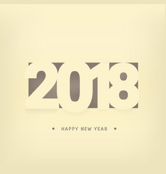 happy new year 2018 calendar cover template vector image vector image