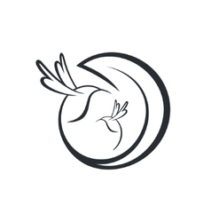 hummingbird sign vector image vector image