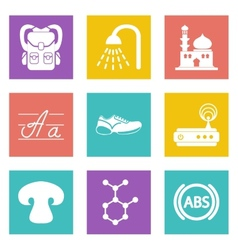 Icons for Web Design set 11 vector image vector image