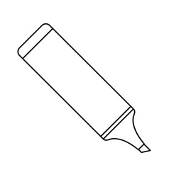 Marker school utensil thin line vector