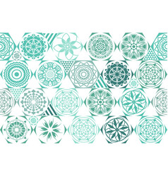 Mint blue drops on turquoise and white stripes vector