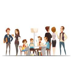 teenage boys retro cartoon vector image